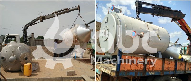 oil refining unit installation