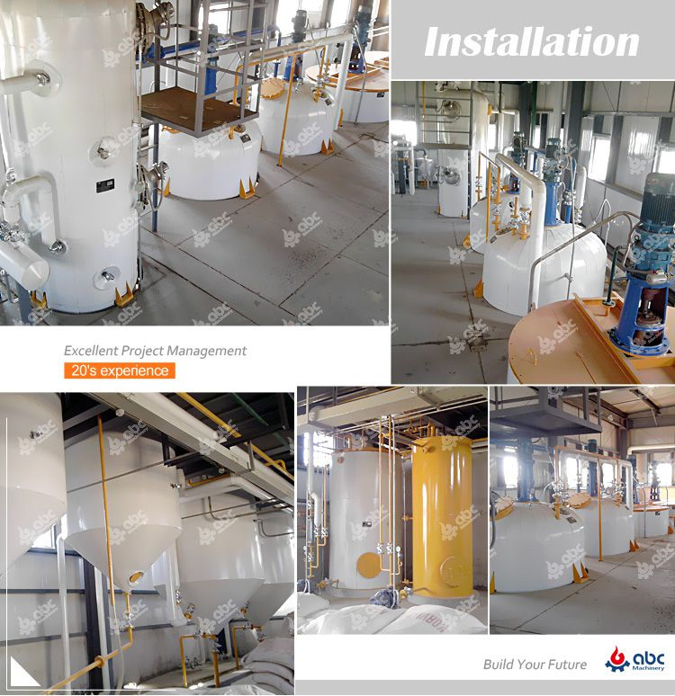 soybean oil refinery plant installation