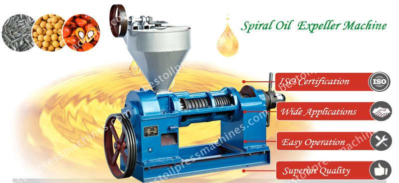 spiral oil expeller machine for oilseeds crushing