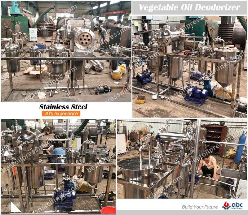stainless steel oil deodorization equipment manufacturing process