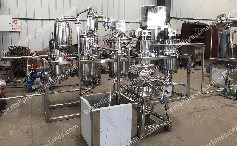 custom-made stainless steel seal oil refinery unit