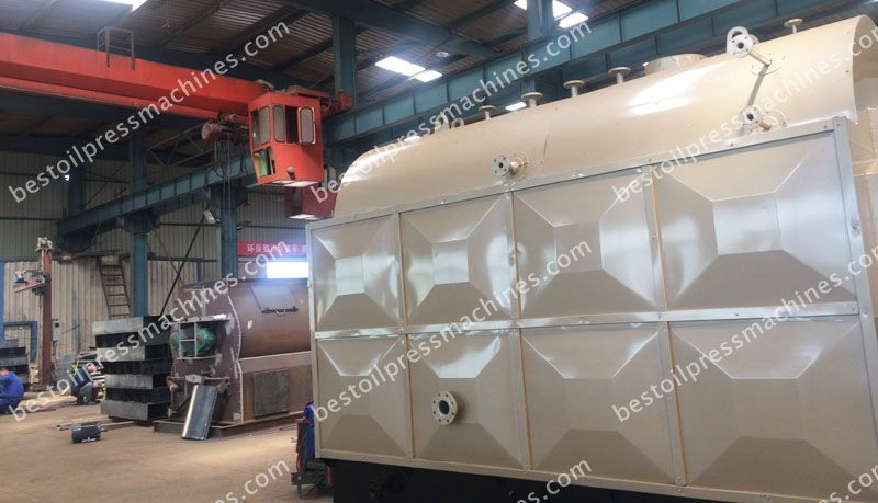 cotton seed oil refining auxiliary equipment - steam boiler