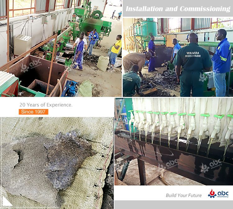 sunflower oil press machine installation