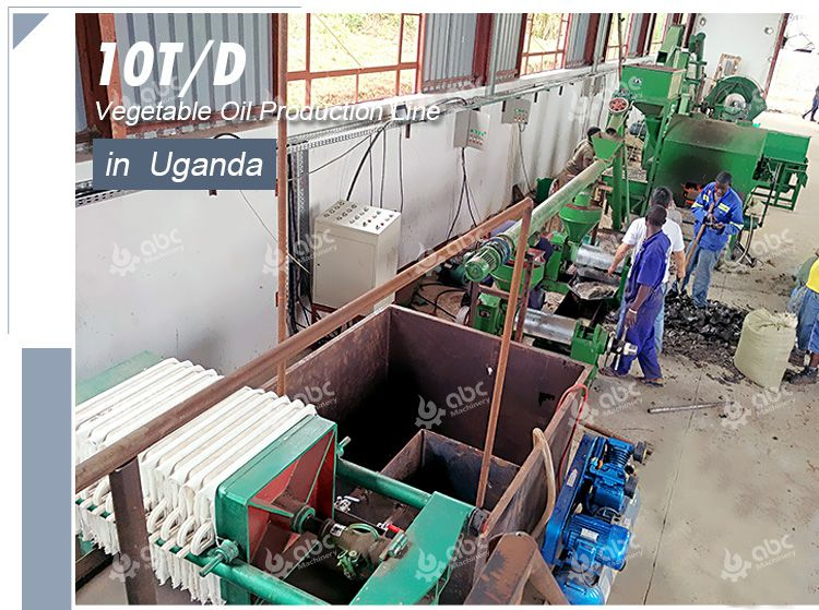 10TPD sunflower oil production line
